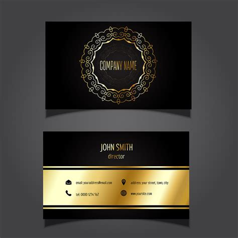 Gold Schwarz by Gold And Black Business Card Free Vectors