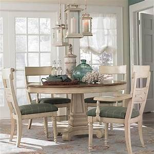 Round, Dining, Table, With, Leaf, Extension