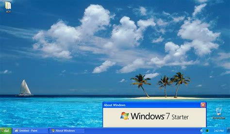 Starter Theme My Windows 7 Starter With Windows Xp Theme By