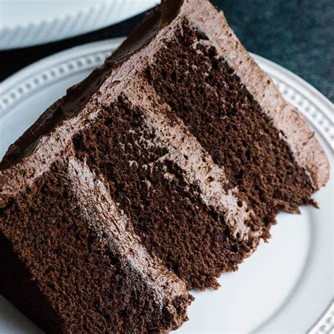 perfect chocolate cake recipe  ganche buttercream