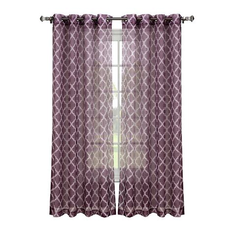 window elements quatrafoil printed sheer wide 54 in