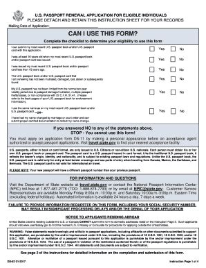 form ds 82 us passport renewal application fillable printable pdf