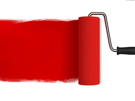 red paint roller psdgraphics