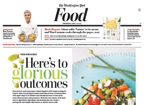 articles cuisine food section newspaper in education