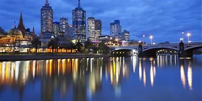 Melbourne Skyline Australia Capital Scenic Mural Barnes
