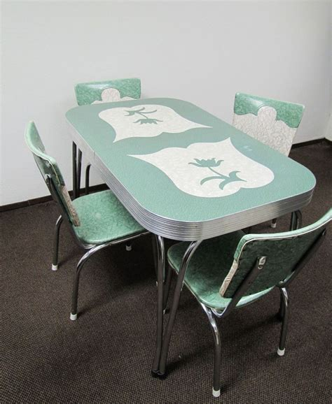 50s retro kitchen table and chairs farm pink vintage dinette sets retro
