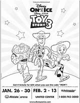 Coloring Toy Story Ice Disney Pages Sheet Pack Fun Tickets Pixar Chosen Presents Mama sketch template
