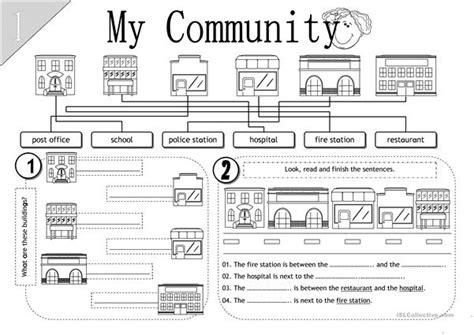 my community worksheet free esl printable worksheets