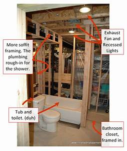 bathroom costs 30 of your budget i finished my basement With how to install bathroom in basement with rough in