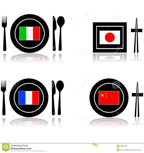 global cuisine international cuisine royalty free stock photo image