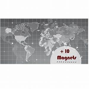 Carte Du Monde Design : papier peint magn tique sticker papier peint magn tique carte du monde ambiance ~ Teatrodelosmanantiales.com Idées de Décoration