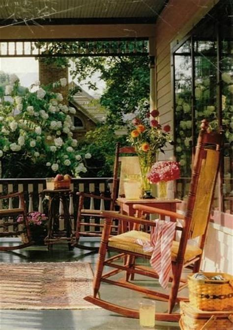 porch rocking chair and flowers i rockin chairs