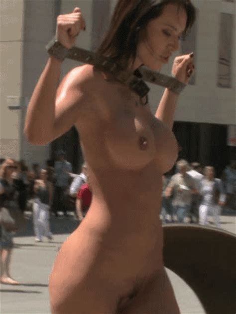 Sexy Nude Babe Walking On The Road Hot Girlfriend