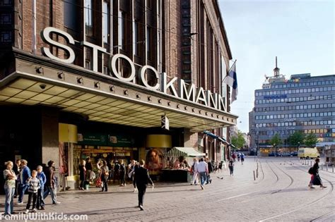 The Stockmann Department Store in downtown Helsinki ...