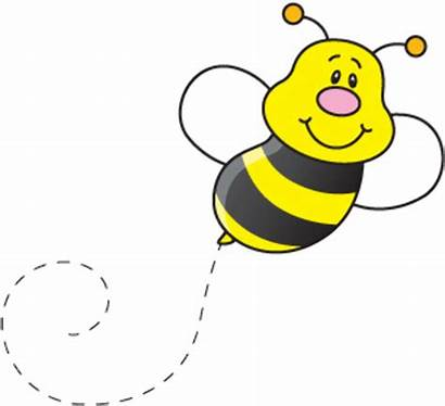 Bee Clipart Bumble Flying Clip