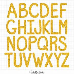gold alphabet clipart digital letter download image gold With gold glitter alphabet letters