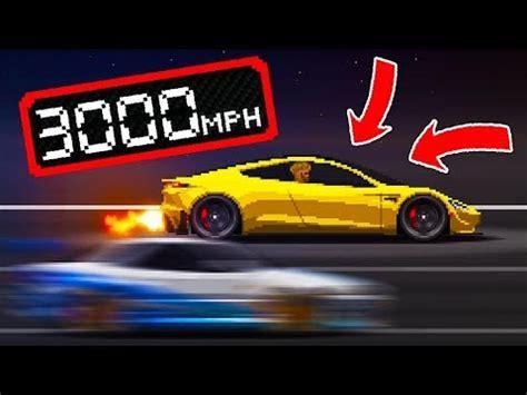 Who is the fastest car? Pixel Car Racer HACKS - Tesla Roadster *3000MPH!*