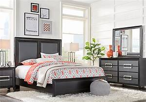 columbus avenue black 5 pc queen panel bedroom contemporary With bedroom furniture sets columbus ga
