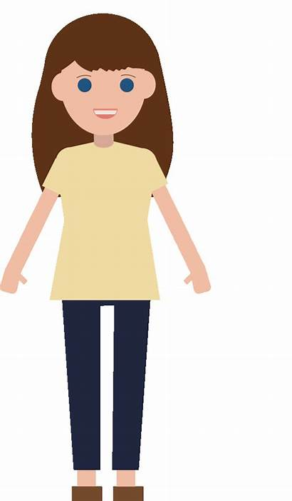 Clipart Mom Animation Brown Transparent Hair Clipartmag