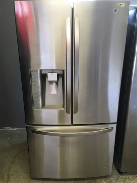 lg stainless steel   french door fridge appliance max