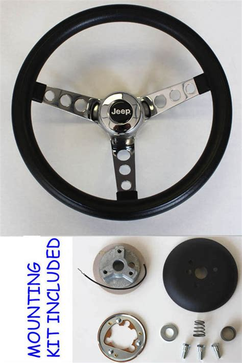custom jeep steering wheel 1976 1995 jeep cj5 cj7 yj classic grant black steering