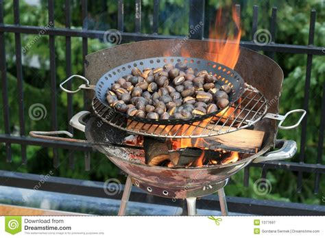 Roasting Chestnuts Royalty Free Stock Photography Image