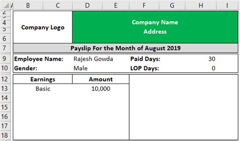 It plays an important role in describing details about payment as well as ensure time period of given payment. Payslip Template in Excel | Build a Free Excel Payslip Template