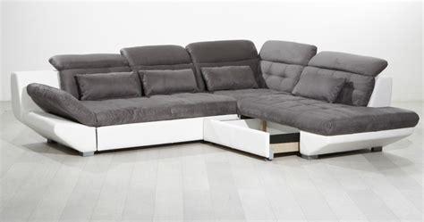 magasin canap canapé d 39 angle eternity gris blanc sb meubles discount
