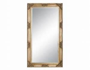 Miroir 180 Cm : grand miroir bois de 180 cm avec dorure ~ Teatrodelosmanantiales.com Idées de Décoration