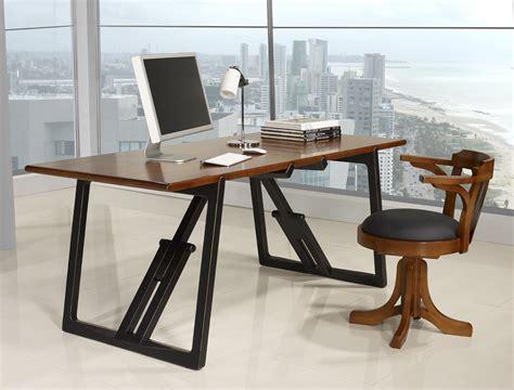 bureau merisier massif table de bureau en merisier massif de ligne contemporaine