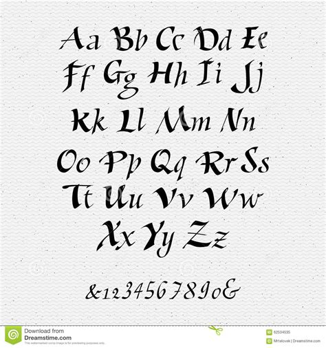 Calligraphy Script Fonts A Z