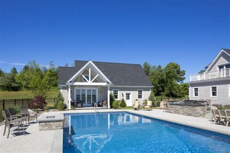 groton garage  pool house platt builders