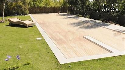 Disappearing Pool Covers Pools Floor Deck Water