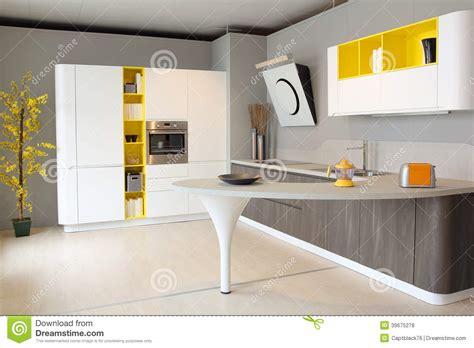 cuisine blanche et jaune photos de cuisine moderne blanche