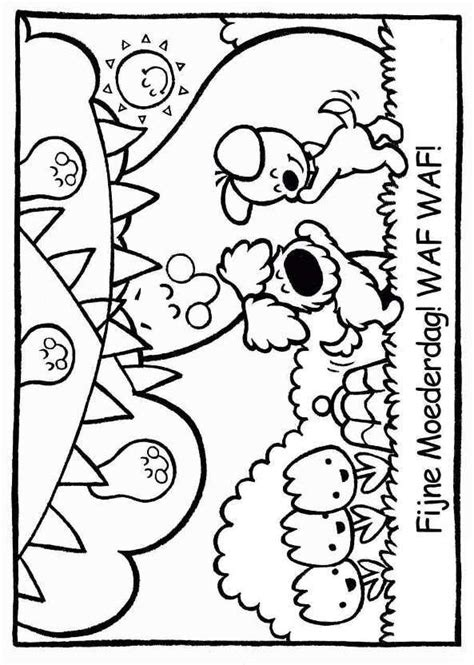 Kleurplaat Woezel En Pip Verjaardag by Kleurplaat Woezel En Pip Feestje Woezel En Pip