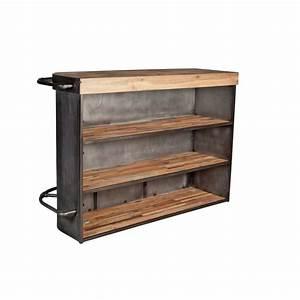 Meuble Bar Angle : meuble bar bois recycl angle droit 164x60 caravelle ~ Melissatoandfro.com Idées de Décoration
