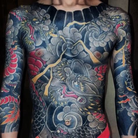dragon chest tattoo designs  men mythical monster