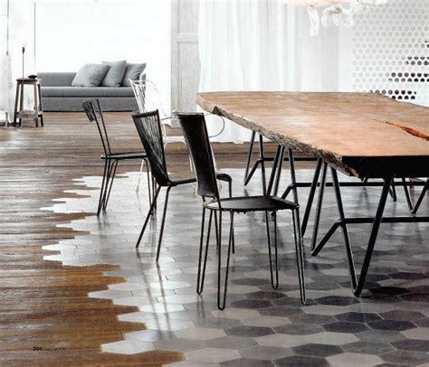 Industrial Wood Flooring floor transition home improvement flooring ideas