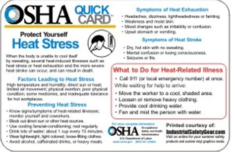 12 pack osha heat stress stickers 4 quot x 6 quot heat stress