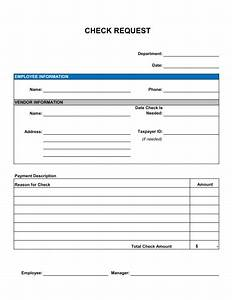 Check Request Form Template  U2013 Word  U0026 Pdf