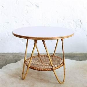 Table Basse Rotin : table basse vintage en rotin atelier du petit parc ~ Teatrodelosmanantiales.com Idées de Décoration