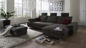 Ecksofa Mit Elektrischer Sitztiefenverstellung : ecksofa bliss in stoff braun grau mit sitztiefenverstellung 318x184 cm ~ Indierocktalk.com Haus und Dekorationen