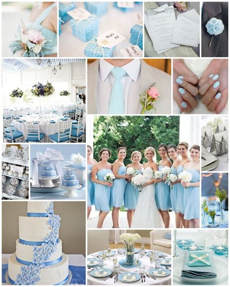 baby light pale blue wedding scheme baby blue mint