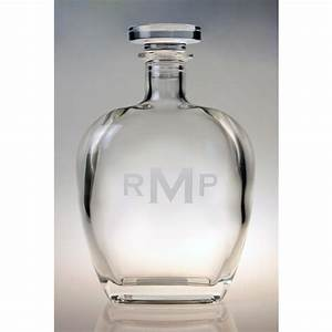 Monogrammed whiskey decanter personalized whiskey decanter for Monogrammed decanters