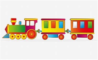 Train Cartoon Vector Toy Clipart Trains Hand