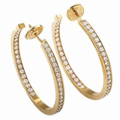 Cartier Earrings Diamond Hoop Classic Hoops 1stdibs