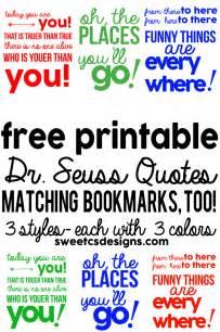 free printable dr seuss bookmarks