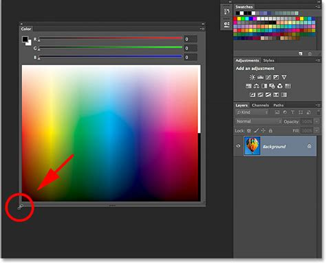 photoshop select color the improved and enhanced color panel photoshop cc 2014