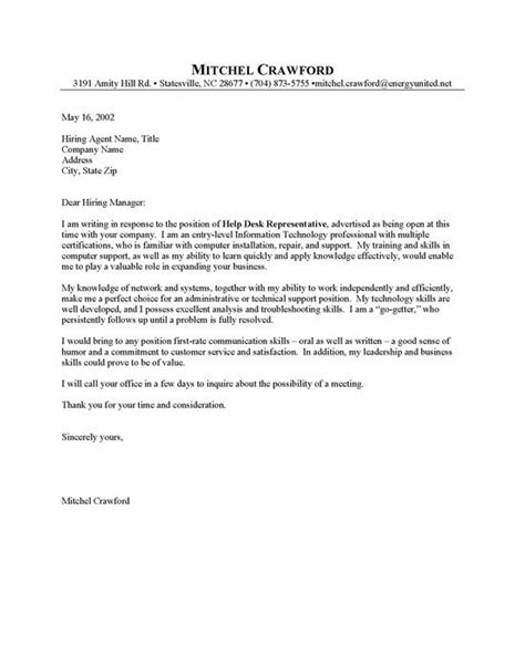 Finance Entry Level Cover Letter by Entry Level Helpdesk Cover Letter Sle Resumes