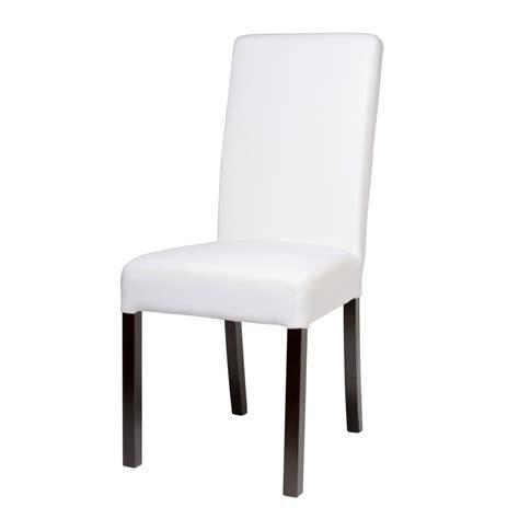 chaise margaux maison du monde chaise à housser en tissu et bois blanche margaux